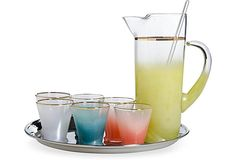 Multicolored Frosted Martini Set Martini Set, Kitchen, Cooking, Kitchens, Cuisine, Cucina