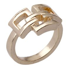 $2 Ring - 3 Squares Ring in #Gold - 13763 - from @colettehayman.