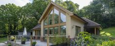 Timber Frame Self Build Homes from Scandia-Hus Style At Home, House Plans Uk, L Shaped House, Oak Frame House, Self Build Houses, Timber Frame Homes, Prefab Homes, Exterior Design, Building A House