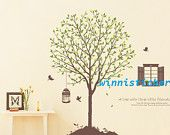 Vinyl Wall Decal Nature Design Tree Wall Decals Wall stickers Nursery wall decal wall art------tree with birds
