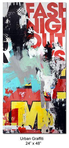 Mixed media abstract on canvas by Houston artist Jim Hudek.