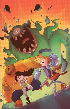 Bravest Warriors issue 18 cover on Behance