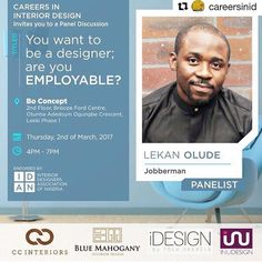 #Repost @careersinid with @repostapp  We are extremely excited to announce @lekantalks of @jobbermannigeria as one of our distinguished panelist at #CID2017  #GetHired!  - Olalekan Olude is the Chief Operating Officer of Jobberman a company he co-founded. Today Jobberman is the biggest job site in Sub-Saharan Africa by revenue audience and customers. He oversees and provides directions for the companys operational and monetization initiatives. He was responsible for growing the revenues of…