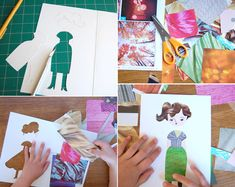 Fashion paper dolls; fun activity to use up old magazines and paper scraps