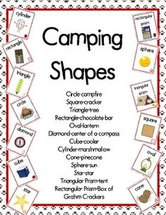 Camping Theme Shape Posters product from CampKindergarten Daycare Themes, Preschool Themes, Preschool Classroom, Classroom Themes, Preschool Camping Theme, Classroom Camping Theme, Forest Classroom, Kindergarten, Shape Posters