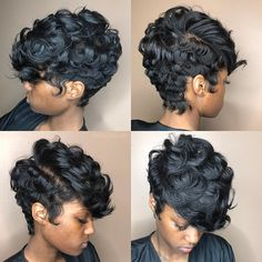 159 hot short curly hairstyles lace front wigs human hair wigs african american wigs for black women Dope Hairstyles, Cute Hairstyles For Short Hair, Curly Hair Styles, Natural Hair Styles, Black Hairstyles, Teenage Hairstyles, African Hairstyles, Short Sassy Hair, Short Hair Cuts