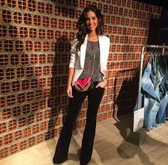 Luiza Sobral with #ElenaGhisellini Selina Rainbow bag