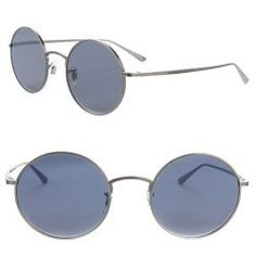 OLIVER PEOPLES The Row After Midnight Round Sunglasses Pewter Blue