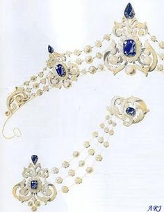 In 1889, King Willem III commissioned Mellerio to create a parure as a 30th birthday present to his second wife, Queen Emma. Originally, the French jeweller intended to use sapphires but in the end it was decided that rubies would look more fetching with the general design.