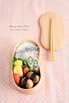 love the wooden box!! #bento #弁当 #lunchbox