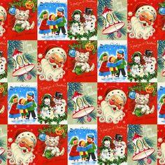 Gift wrap -  vintage christmas.