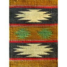Rugsville Two Stars Gold Black Jute  Rug 13602 - $45.00