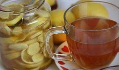 Zázvorový sirup Mason Jars, Menu, Tableware, Lemon, Syrup, Menu Board Design, Dinnerware, Dishes, Mason Jar