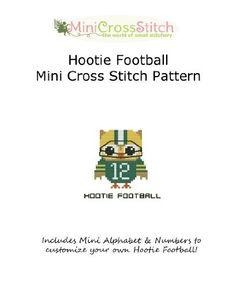 Hootie Football Mini Cross Stitch Pattern by Pinoy Stitch, http://www.amazon.com/gp/product/B00AYHB3E6/ref=cm_sw_r_pi_alp_vPk7qb0CSQHAN