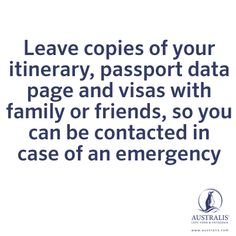 TRAVEL TIPS - I also email myself a copy so I can access it anywhere (embassy in any country would have internet access and able to retrieve the document to process new passport etc faster)