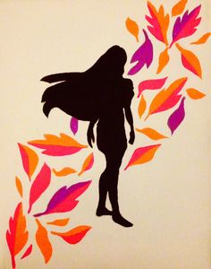 My Pocahontas painting I did last night! I'm super proud of it!!❤️