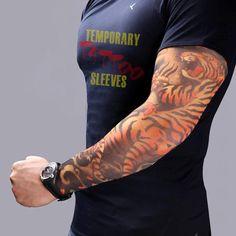 8 Pcs 100% Nylon Elastic Fake Temporary Tattoo Sleeve Arm Stockings ta – GoAmiroo Store