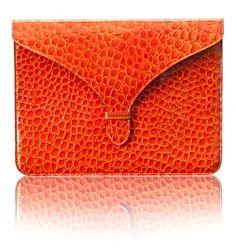 Ceccec ipad clutch - in Pantone 2012 colour of the year - tangerine tango