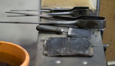 Colonial Glass Blowing Tools