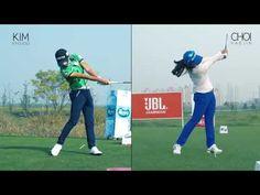 [골프스윙동영상] 박성현vs전인지(정면)_sunghyun park vs ingee chun [스윙학개론_Golf swing HD] - YouTube