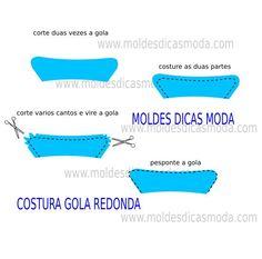 COSTURA GOLA REDONDA