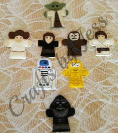 STARWARS FINGER PUPPETS by yesikafae on Etsy, $18.00