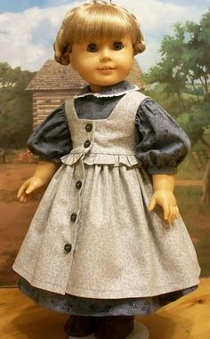 MId 1800's ruffled pinafore and prairie dress. by Keepersdollyduds, via Flickr