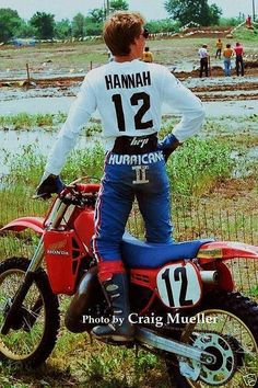 Motocross Racer, Motorcycle Racers, Big Blue Whale, Honda Bikes, Off Road Racing, Vintage Motocross, Dirtbikes, Classic Bikes, Hot Cars