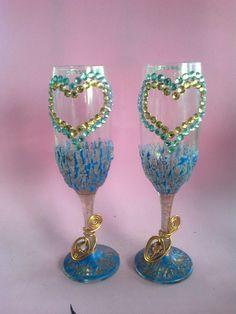 1000 images about copas de eventos on pinterest - Como decorar copas de cristal ...