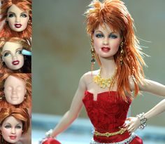 Cyndi Lauper custom doll repaint transformation by noeling on DeviantArt