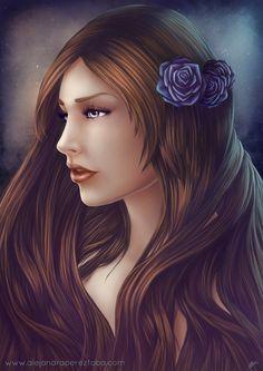 Blue roses by Alejandra-perez.deviantart.com  on @deviantART
