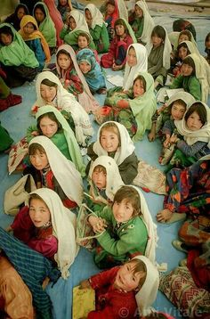 Afghan girls in school.   #Afghan #girls #education #leaders