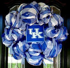 University of Kentucky Deco Mesh Burlap by JoyfullyYoursWreaths, $70.00