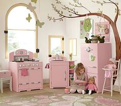 Pink Retro Kitchen Collection I want this for Abi ....but there's no way I can or will pay that much I'm sure we can make something :)