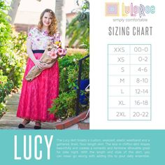 A Little Ray of Sunshine aka Lularoe Heather Wilhite. Offering comfortable, affordable, fashionable, limited edition clothing in the form of. Lularoe Size Chart, Lularoe Sizing, Lucy Skirt Lularoe, Lularoe Dresses, Lularoe Clothes, Skirt Outfits, Cute Outfits, Lularoe Shopping, Lula Roe Outfits