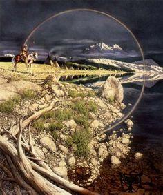 Bev Doolittle - I love her artwork! (Do you see the wolf? Native Art, Native American Art, American Artists, Hidden Images, Hidden Pictures, Hidden Art, Bev Doolittle Prints, Illusion Kunst, Wildlife Art