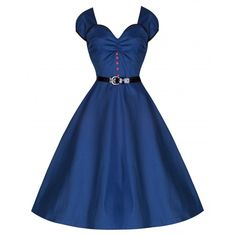 Blue Pin Up Party Dresses