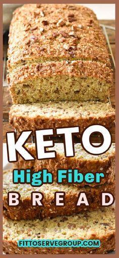Low Calorie Bread, Best Low Carb Bread, Lowest Carb Bread Recipe, Low Carb Keto, Gluten Free Low Carb Bread Recipe, Carb Free Bread, Wheat Bread Recipe, High Fiber Low Carb, High Fiber Foods