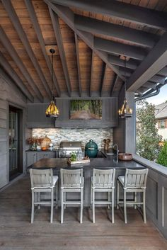 47 incredible outdoor kitchen design ideas on backyard (15)
