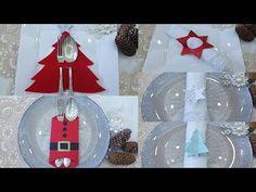 (1) Diy: Spettacolari idee per apparecchiare la tavola di Natale, Christmas Silverware Holder Idea - YouTube