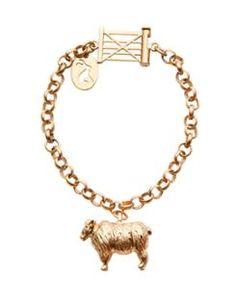 CHARMINGBRAC Womens Sheep Charm Bracelet