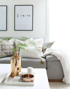 Azul y negro o blanco y dorado, los colores de moda | Decorar tu casa es facilisimo.com