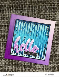 Me and Minime crafting: Altenew October 2015 Blog Hop