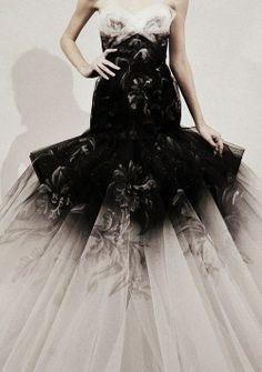 For some reason, this #dress calls to me. I think it's probably because of the #black. I don't know why but a #blackweddingdress has always appealed to me. Then the #touch of #floral just adds a #soft, #romantic #air to it.