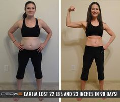 P 90X 3 takes only 30 minutes per day and gets you results like this - Way to bring it, Cari M !