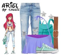 """""""High School Ariel"""" by the-pastel-goth ❤ liked on Polyvore"""