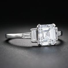 1.44 Carat E-Internally Flawless Emerald-Cut Diamond Art Deco image 2