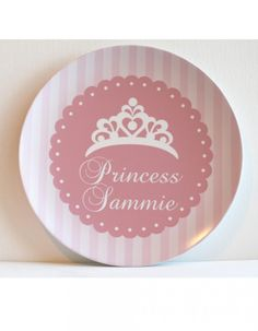 A pretty plate for the party - and then the princess can eat off of it all year long!