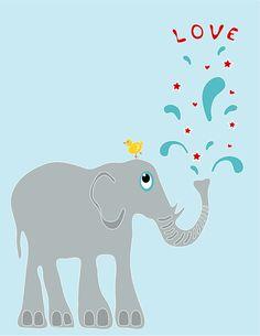 Items similar to Children's Wall Art / Nursery Decor Elephant and Yellow Love Bird inch Poster Print on Etsy Baby Bathroom, New Bathroom Ideas, Bathroom Wall Art, Nursery Wall Art, Nursery Decor, Nursery Ideas, Elephant Poster, Childrens Wall Art, Love Wall Art