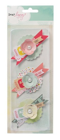 Dear Lizzy Neapolitan Ephemera Flowers Embellishments by American Crafts - Two…